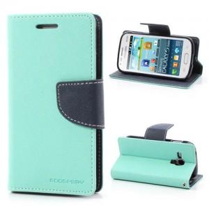 Samsung Galaxy Trend / Trend Plus - etui na telefon i dokumenty -Fancy cyjan
