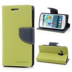 Samsung Galaxy Trend / Trend Plus - etui na telefon i dokumenty - Fancy zielone