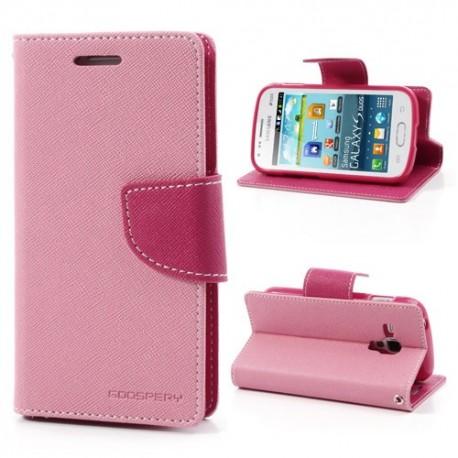 Samsung Galaxy Trend / Trend Plus - etui na telefon i dokumenty - Fancy różowe