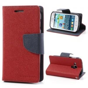 Samsung Galaxy Trend / Trend Plus - etui na telefon i dokumenty - Fancy czerwone