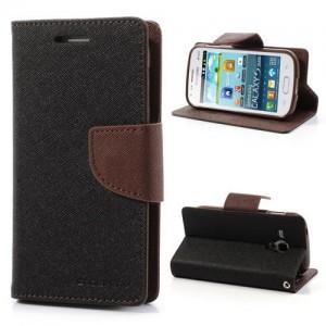 Samsung Galaxy Trend / Trend Plus - etui na telefon i dokumenty - Fancy czarne