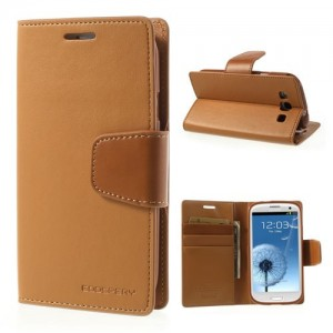 Samsung Galaxy S3 - etui na telefon i dokumenty - Sonata brązowe