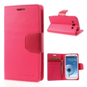 Samsung Galaxy S3 - etui na telefon i dokumenty - Sonata różowe