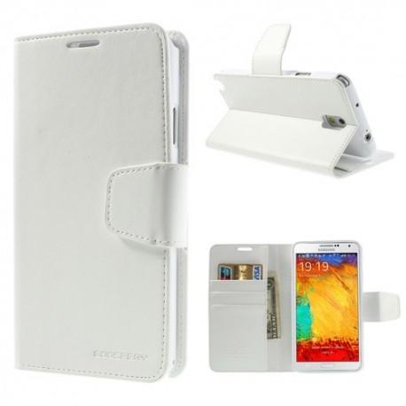 Samsung Galaxy Note 3 - etui na telefon i dokumenty - Sonata białe