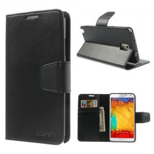 Samsung Galaxy Note 3 - etui na telefon i dokumenty - Sonata czarne