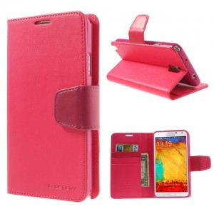 Samsung Galaxy Note 3 - etui na telefon i dokumenty - Sonata ciemnoróżowe
