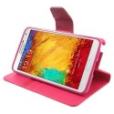 Samsung Galaxy Note 3 Portfel Etui – Sonata Ciemny Różowy