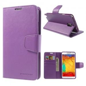 Samsung Galaxy Note 3 - etui na telefon i dokumenty - Sonata purpurowe
