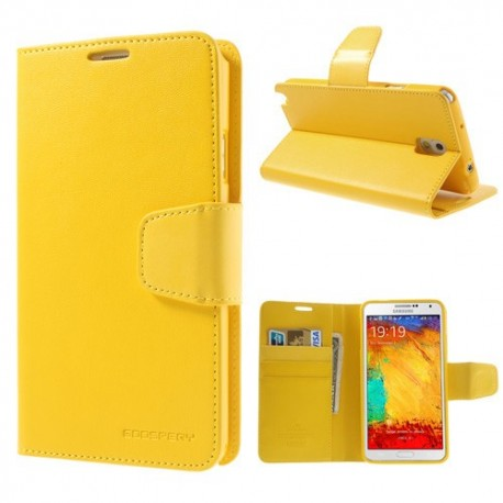 Samsung Galaxy Note 3 - etui na telefon i dokumenty - Sonata żółte