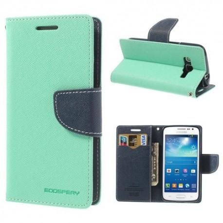 Samsung Galaxy Express 2 - etui na telefon i dokumenty - Fancy cyjan