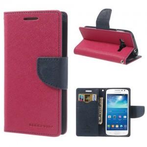 Samsung Galaxy Express 2 - etui na telefon i dokumenty - Fancy ciemnoróżowy