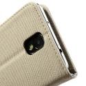 Samsung Galaxy Note 3 Etui – Materiał Beżowy