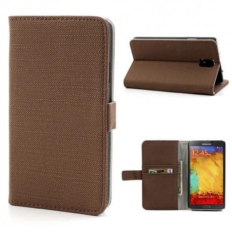 Samsung Galaxy Note 3 - etui na telefon i dokumenty - Materiał brązowe