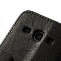 Samsung Galaxy Ace 3 Portfel Etui – Lychee Czarne
