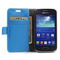 Samsung Galaxy Ace 3 Portfel Etui – Lychee Niebieski