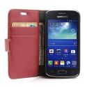 Samsung Galaxy Ace 3 Portfel Etui – Lychee Czerwony
