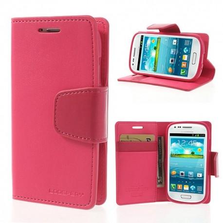Samsung Galaxy S3 Mini - etui na telefon i dokumenty - Sonata ciemnoróżowy