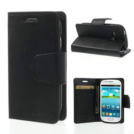 Samsung Galaxy S3 Mini - etui na telefon i dokumenty - Sonata czarne