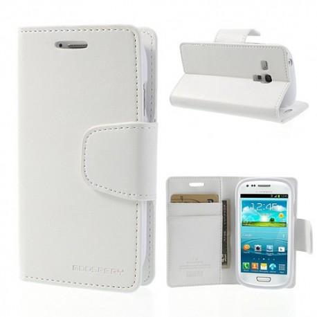 Samsung Galaxy S3 Mini - etui na telefon i dokumenty - Sonata białe