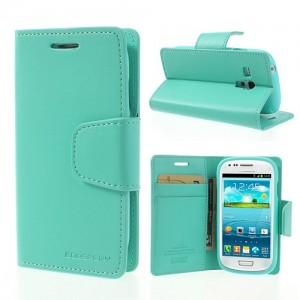 Samsung Galaxy S3 Mini - etui na telefon i dokumenty - Sonata cyjan