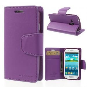 Samsung Galaxy S3 Mini - etui na telefon i dokumenty - Sonata purpurowe