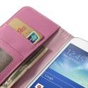 Samsung Galaxy Grand 2 Portfel Etui – Litchi Różowy