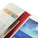 Samsung Galaxy Grand 2 Portfel Etui – Litchi Białe