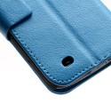 Samsung Galaxy S4 Active Etui – Litchi Niebieski