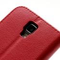 Samsung Galaxy S4 Active Etui – Litchi Czerwony