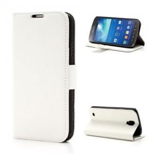 Samsung Galaxy S4 Active - etui na telefon i dokumenty - Litchi białe