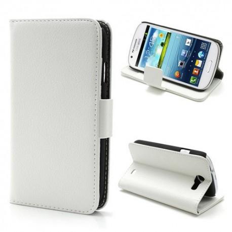 Samsung Galaxy Express - etui na telefon i dokumenty - Litchi białe