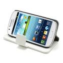 Samsung Galaxy Express Portfel Etui – Litchi Białe