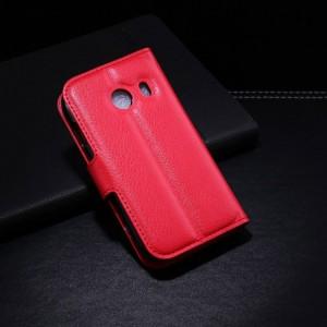 Samsung Galaxy Ace Style - etui na telefon i dokumenty - Litchi czerwone
