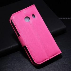 Samsung Galaxy Ace Style - etui na telefon i dokumenty - Litchi różowe