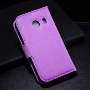 Samsung Galaxy Ace Style - etui na telefon i dokumenty - Litchi purpurowe