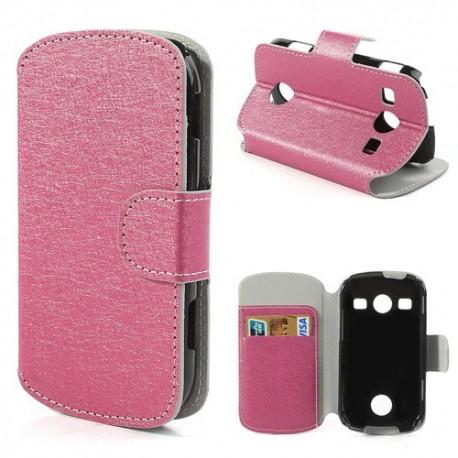 Samsung Galaxy Xcover 2 - etui na telefon i dokumenty - SG różowe