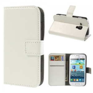 Samsung Galaxy Trend / Trend Plus - etui na telefon i dokumenty - CH białe