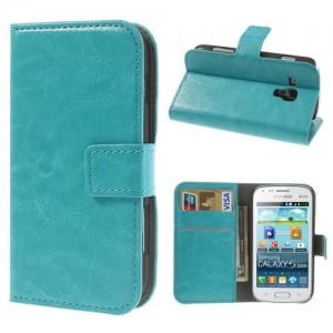 Samsung Galaxy Trend / Trend Plus - etui na telefon i dokumenty - CH niebieskie