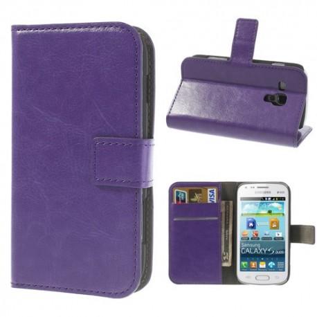 Samsung Galaxy Trend / Trend Plus - etui na telefon i dokumenty - CH purpurowe
