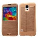 Samsung Galaxy S5 Etui Okno KLD KA – Kawa