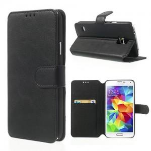 Samsung Galaxy S5 - etui na telefon i dokumenty - SK Style czarne