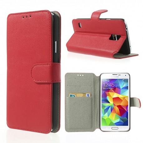 Samsung Galaxy S5 - etui na telefon i dokumenty - SK Style czerwone