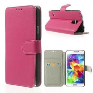 Samsung Galaxy S5 - etui na telefon i dokumenty - SK Style różowe