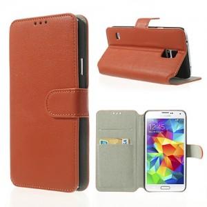Samsung Galaxy S5 - etui na telefon i dokumenty - SK Style pomarańczowe