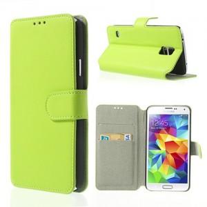 Samsung Galaxy S5 - etui na telefon i dokumenty - SK Style zielone