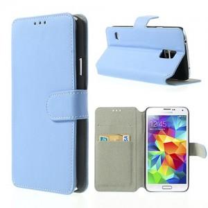 Samsung Galaxy S5 - etui na telefon i dokumenty - SK Style niebieskie