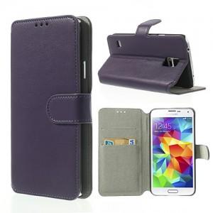 Samsung Galaxy S5 - etui na telefon i dokumenty - SK Style purpurowe