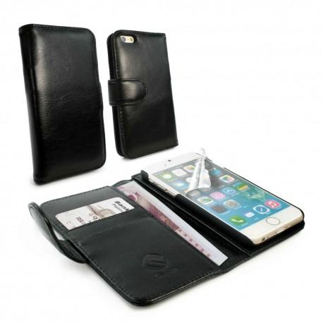 Apple iPhone 6 - etui na telefon i dokumenty - Tuff-Luv skórzane czarne
