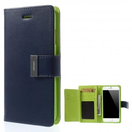Apple iPhone 6 - etui na telefon i dokumenty - Rich Diary niebieski V