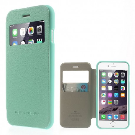 Apple iPhone 6 - etui na telefon i dokumenty - Wow Bumper cyjan